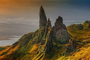 Écosse: vieuil homme de storr