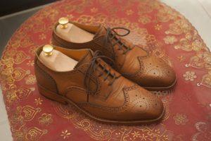 Chaussures Derby en cuir marron