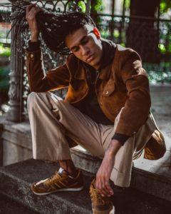 veste cuir camel