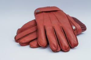 gants-cuir rouges